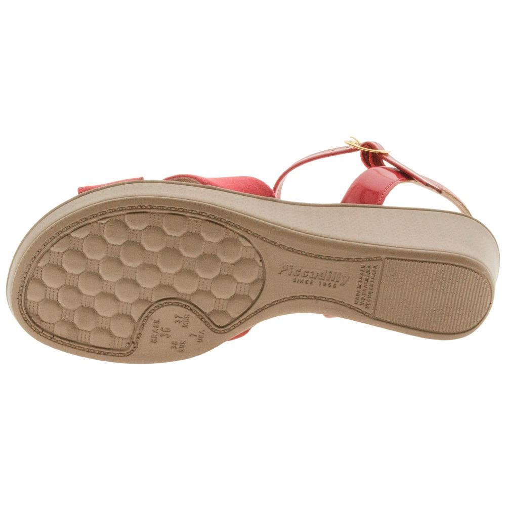 d991a9d605 sandália feminina anabela vermelha piccadilly - 540217. Carregando zoom.