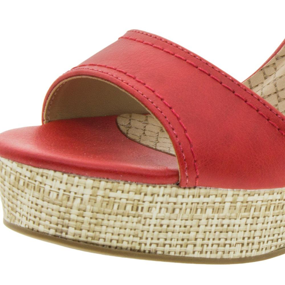4faec18ce1 sandália feminina anabela vermelha via marte - 169604. Carregando zoom.