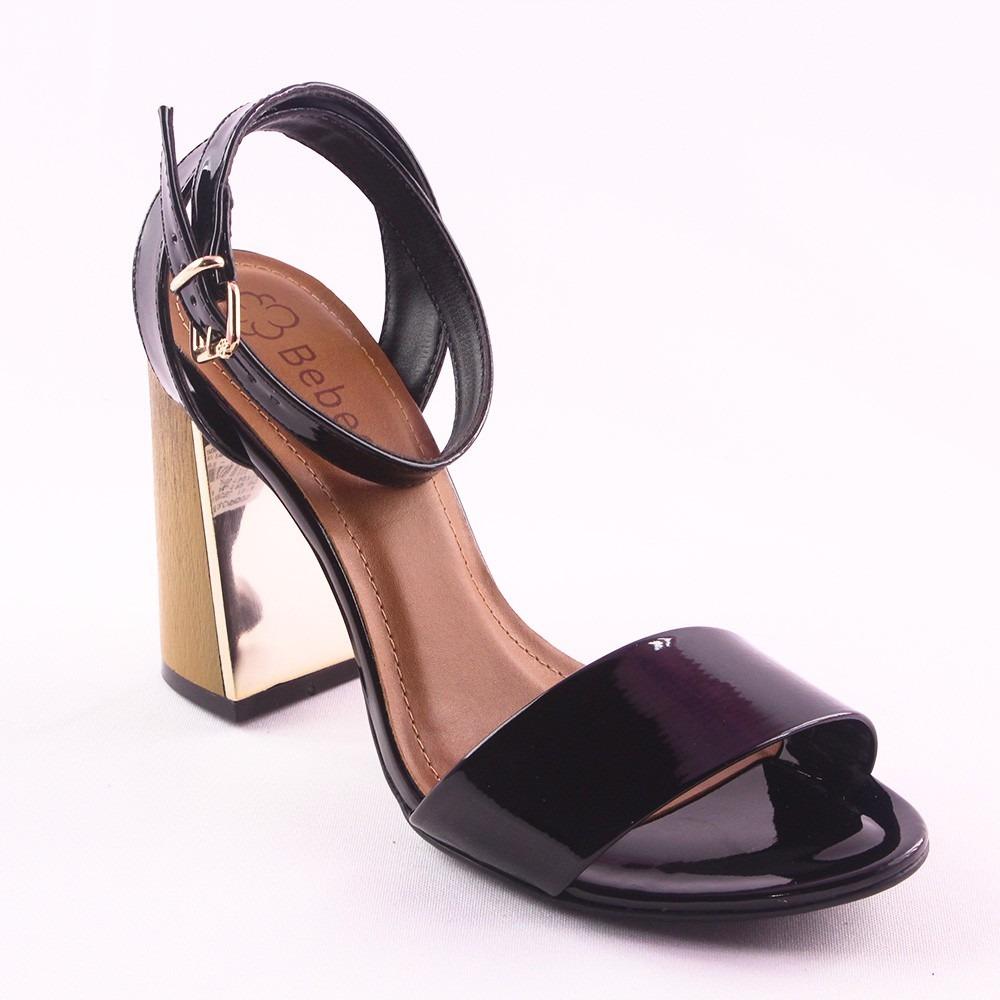 079d69257f sandália feminina bebece preto verniz salto quadrado. Carregando zoom.