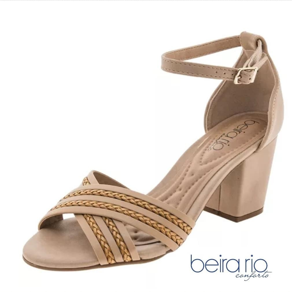 4eb2a11514 sandalia feminina beira rio conforto salto médio. Carregando zoom.