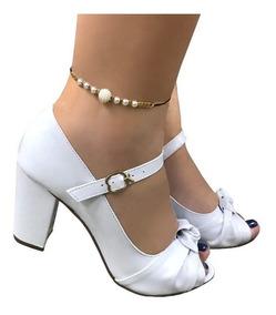 fa3727743 Sandalias De Salto Alto Com Laco - Sapatos com o Melhores Preços no ...