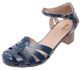 5bf9741f6 Sandalia Salto Baixo Couro Legitimo Feminino - Calçados, Roupas e Bolsas  com o Melhores Preços no Mercado Livre Brasil
