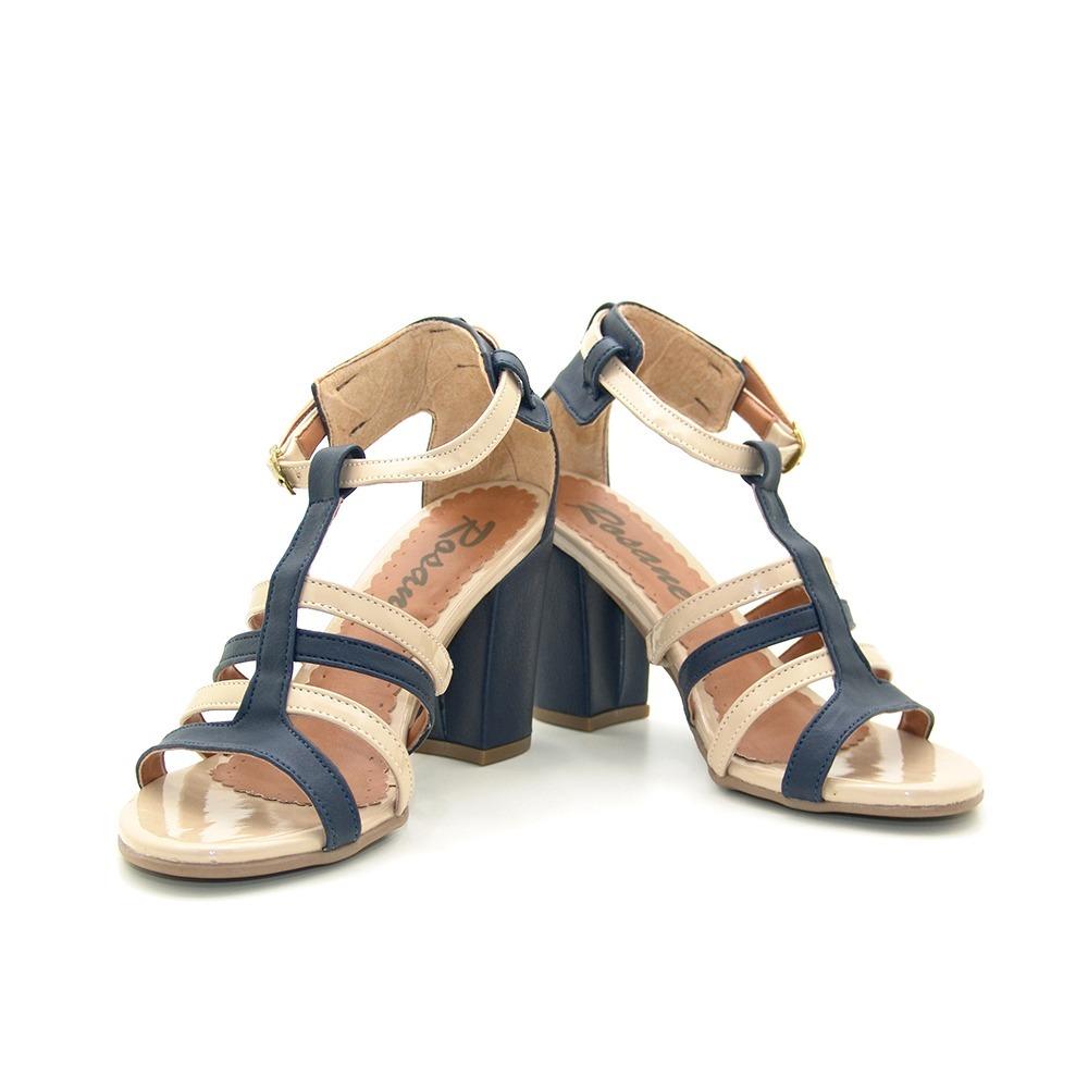 c63dff4896 sandália feminina casual salto 8 rosane tamanho 33 único par. Carregando  zoom.