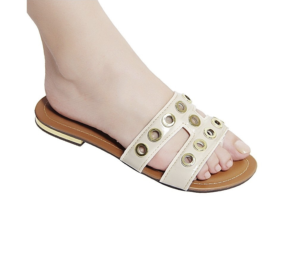 b2b5ee0b11 sandália feminina chinelo rasteirinha bege verão 2019 barata. Carregando  zoom.