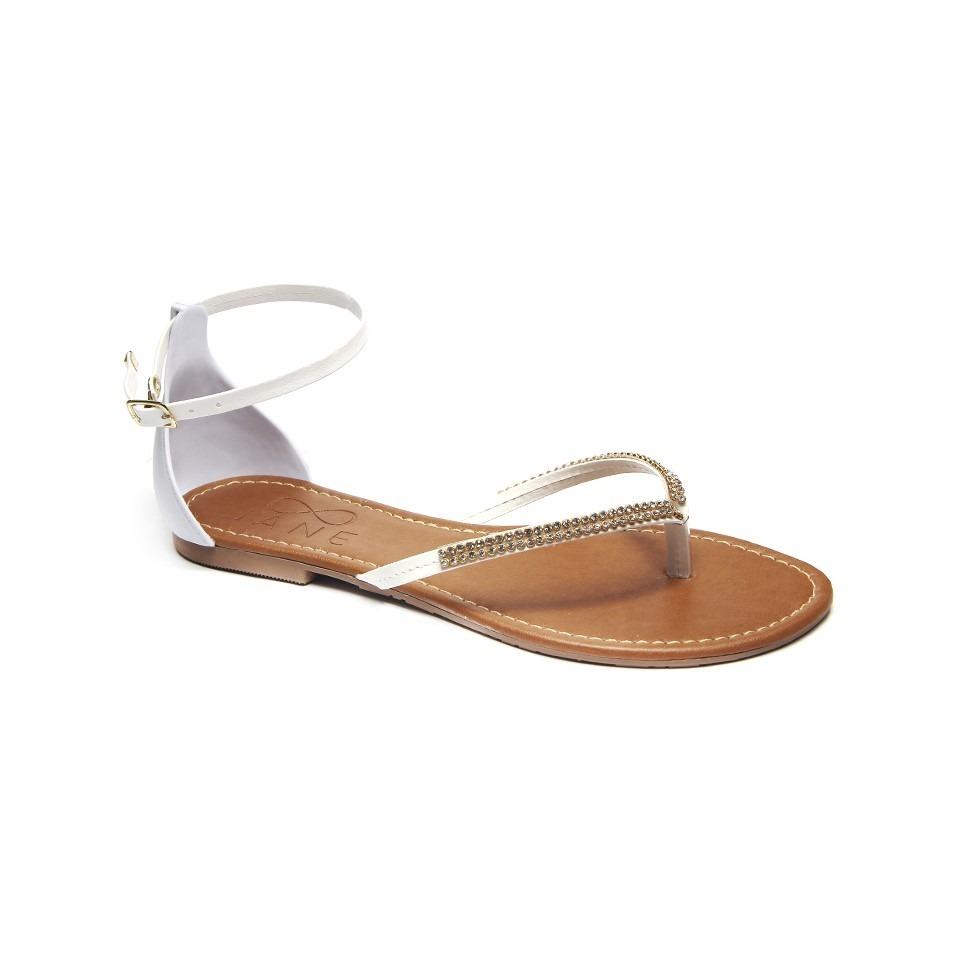 36f2977721 sandália feminina chinelo rasteirinha branca flat verão 2019. Carregando  zoom.