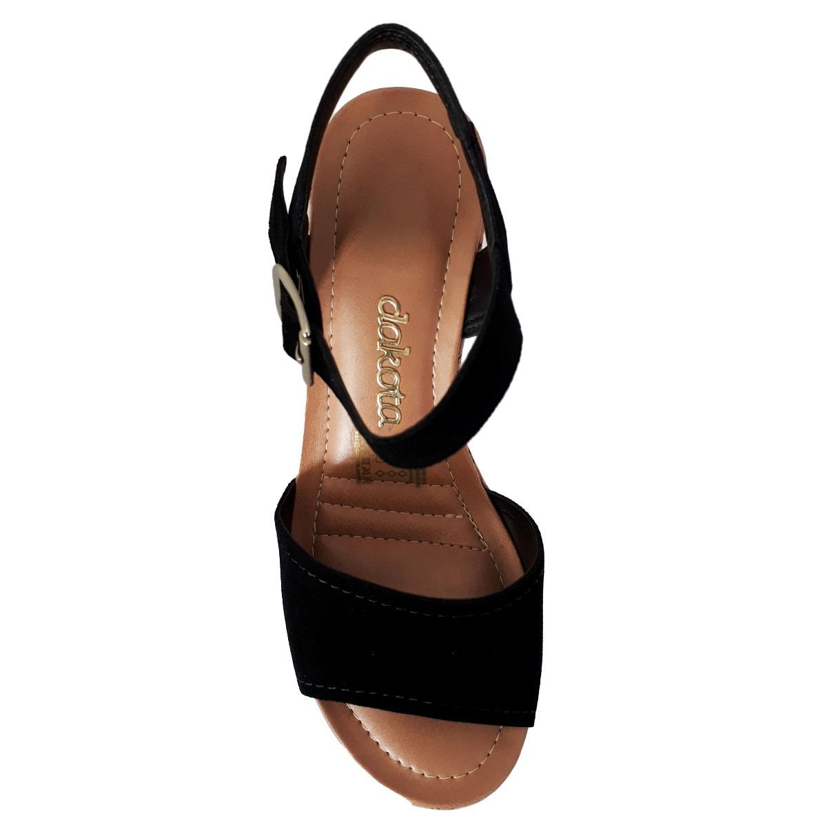 a22ed0ab38 sandália feminina dakota plataforma beltinci preto z2393. Carregando zoom.
