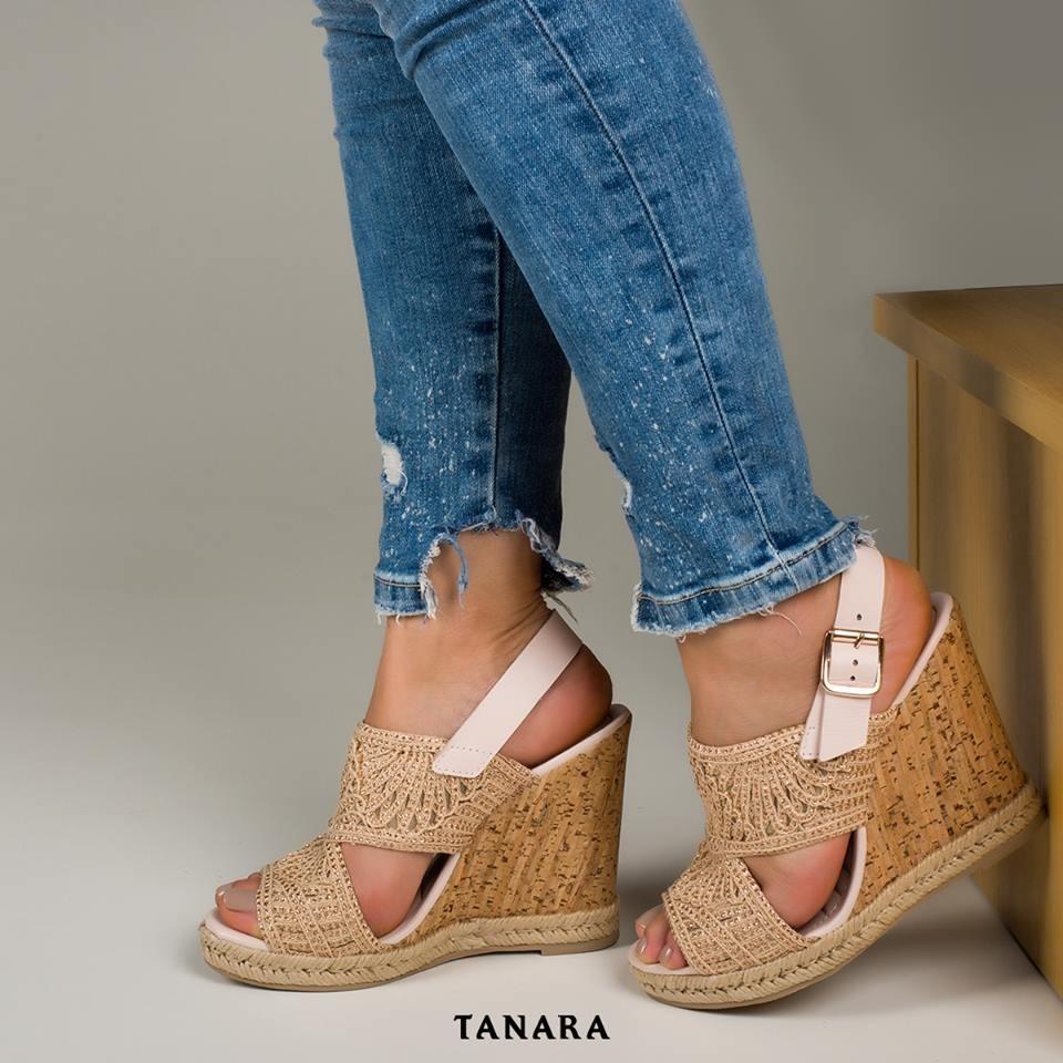 d398bf4ada sandália feminina dakota tanara t1882 anabela cortiça corda. Carregando  zoom.