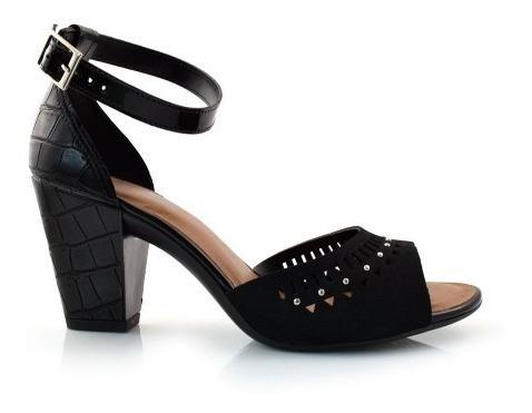 sandália feminina dakota z3762 salto grosso lasercut