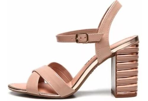 sandália feminina  dakota,nude verniz salto alto