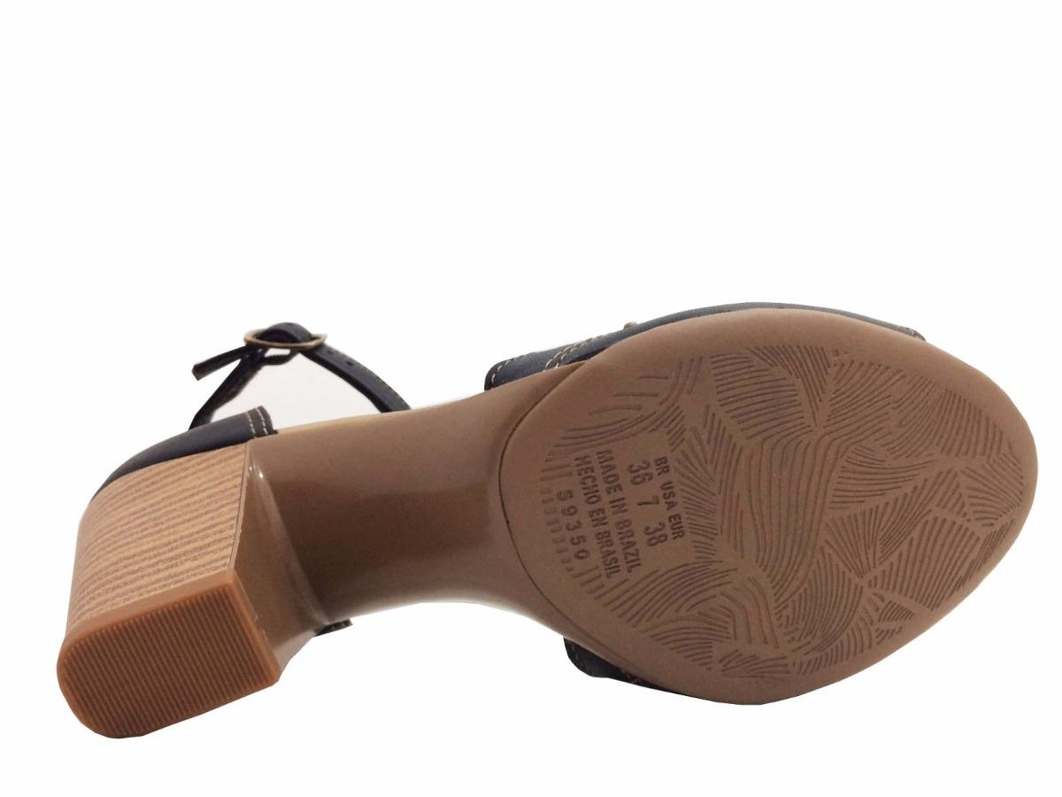 f72fe2a0ed sandalia feminina de salto grosso z2223 - dakota - preto. Carregando zoom.