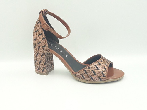 sandália feminina estampada ramarim 1941205