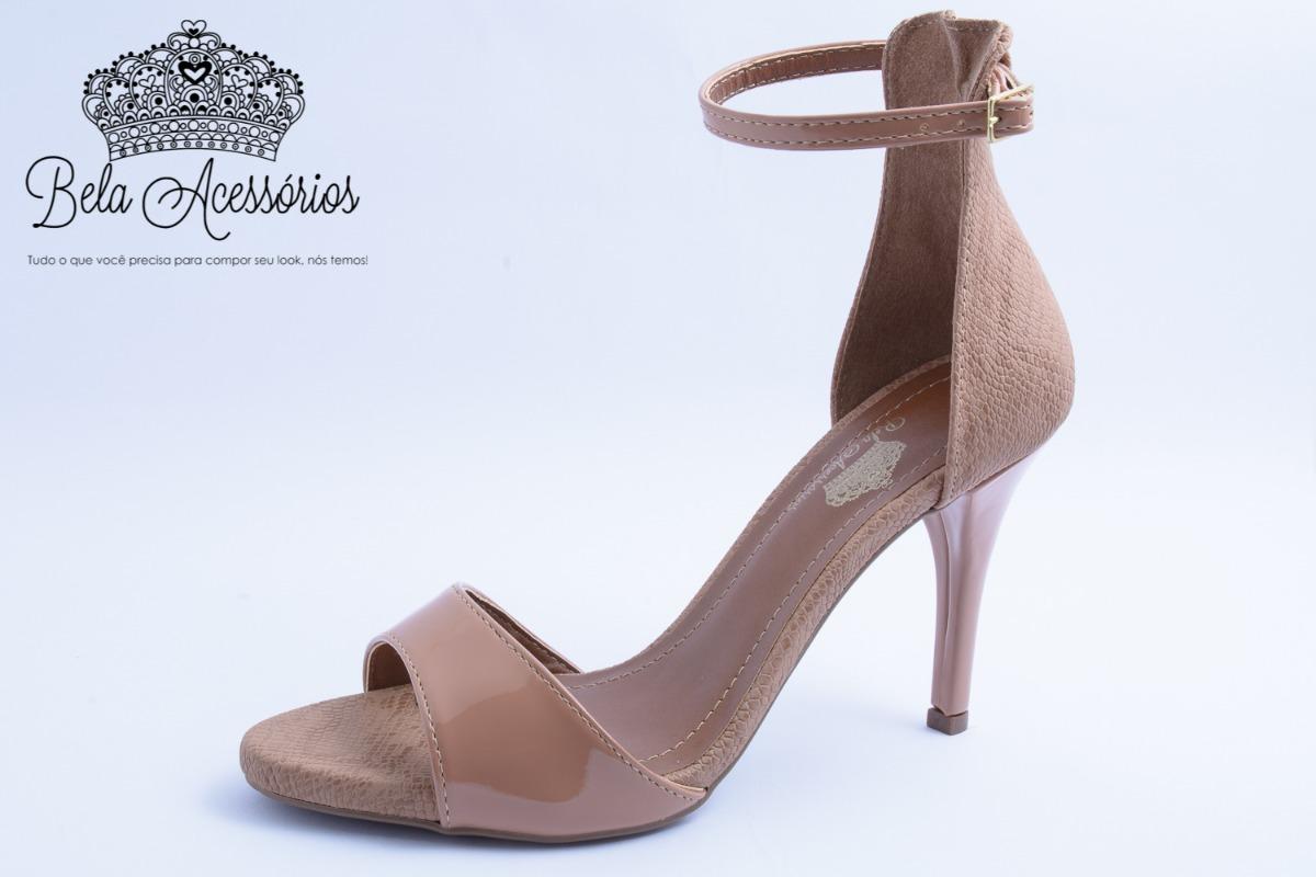 c8760aea75 sandalia feminina festa nude antique salto alto fino 9cm. Carregando zoom.