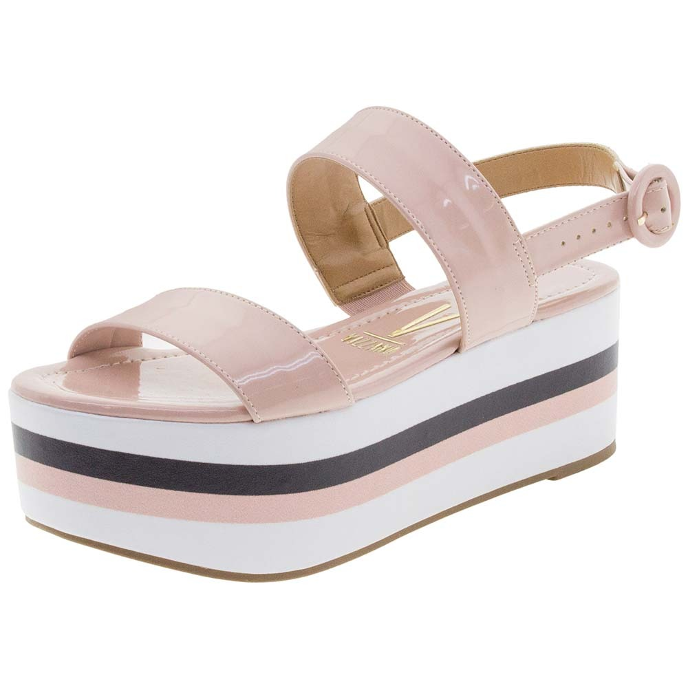 f4dc96522 sandália feminina flatform rosa vizzano - 6386100. Carregando zoom.