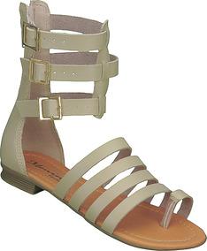 900d33d746 Sandalia Gladiadora Baixa Rasteira Feminino - Sapatos no Mercado Livre  Brasil