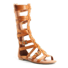 1ff53f6b8d Sandalia Gladiadora Tanara Caramelo - Calçados