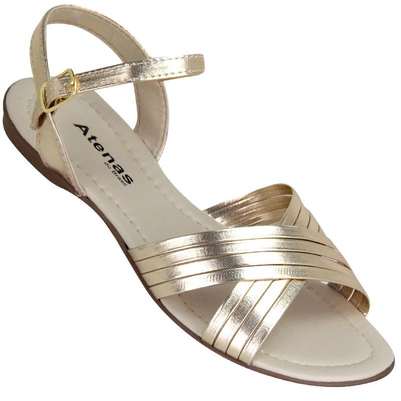 e0a5a4810 sandália feminina kalyta 1796 ouro - atenas calçados. Carregando zoom.