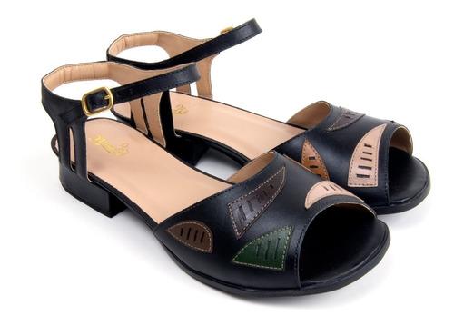 sandália feminina lis bela mz couro 3208