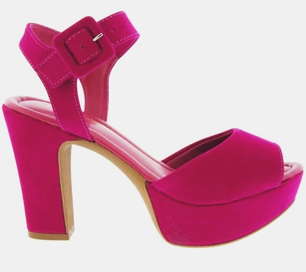 a06c8db913 Sandalia Feminina Meia Pata Rosa Pink Salto Grosso Aberta - R  100 ...