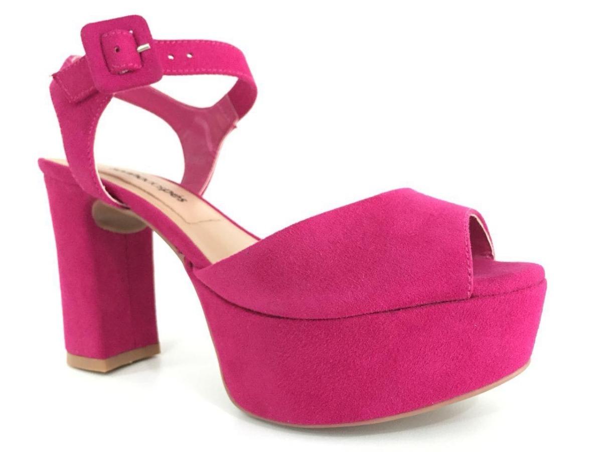 2c7c83d910 sandalia feminina meia pata rosa pink salto grosso aberta. Carregando zoom.