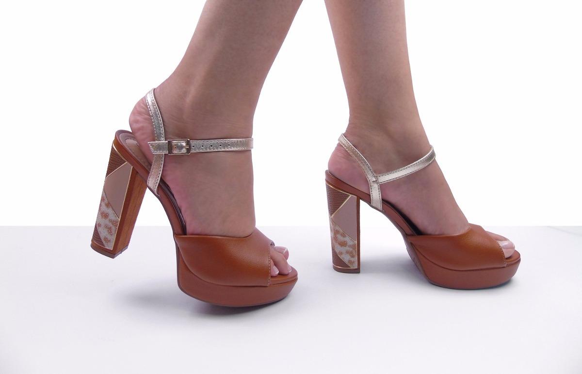 ccfe539f54 sandália feminina meia pata salto alto beira rio conforto. Carregando zoom.