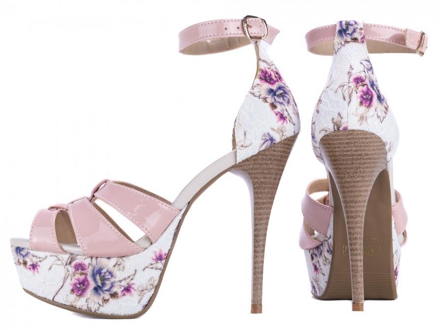 f581530326 sandália feminina meia pata salto alto fino festa verão rosa. Carregando  zoom.