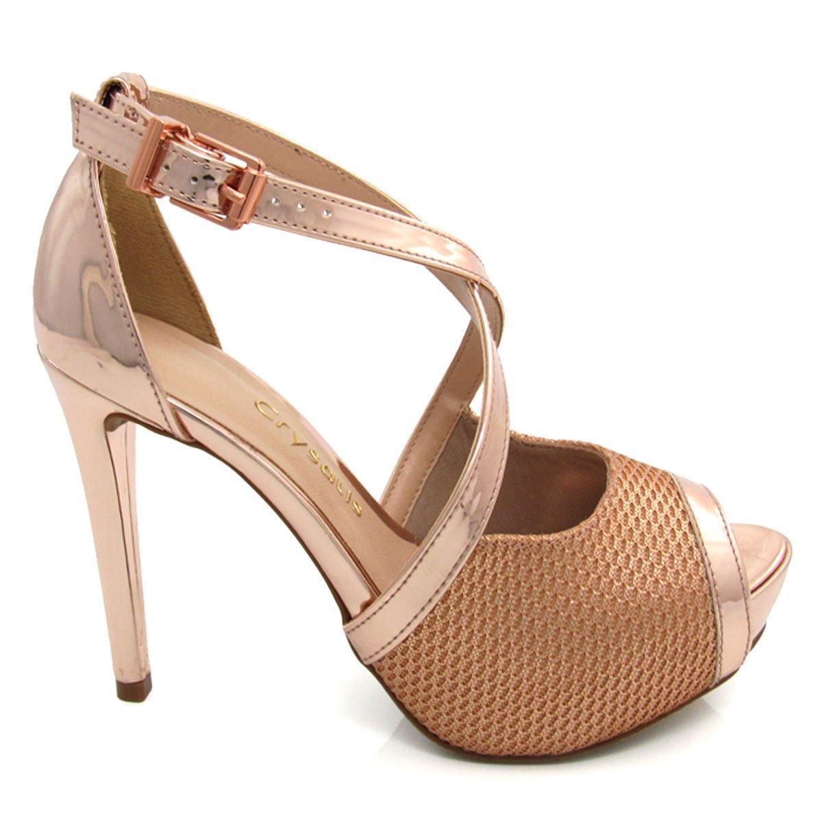 99c688f187 sandália feminina meia pata salto fino crysalis 42096057. Carregando zoom.