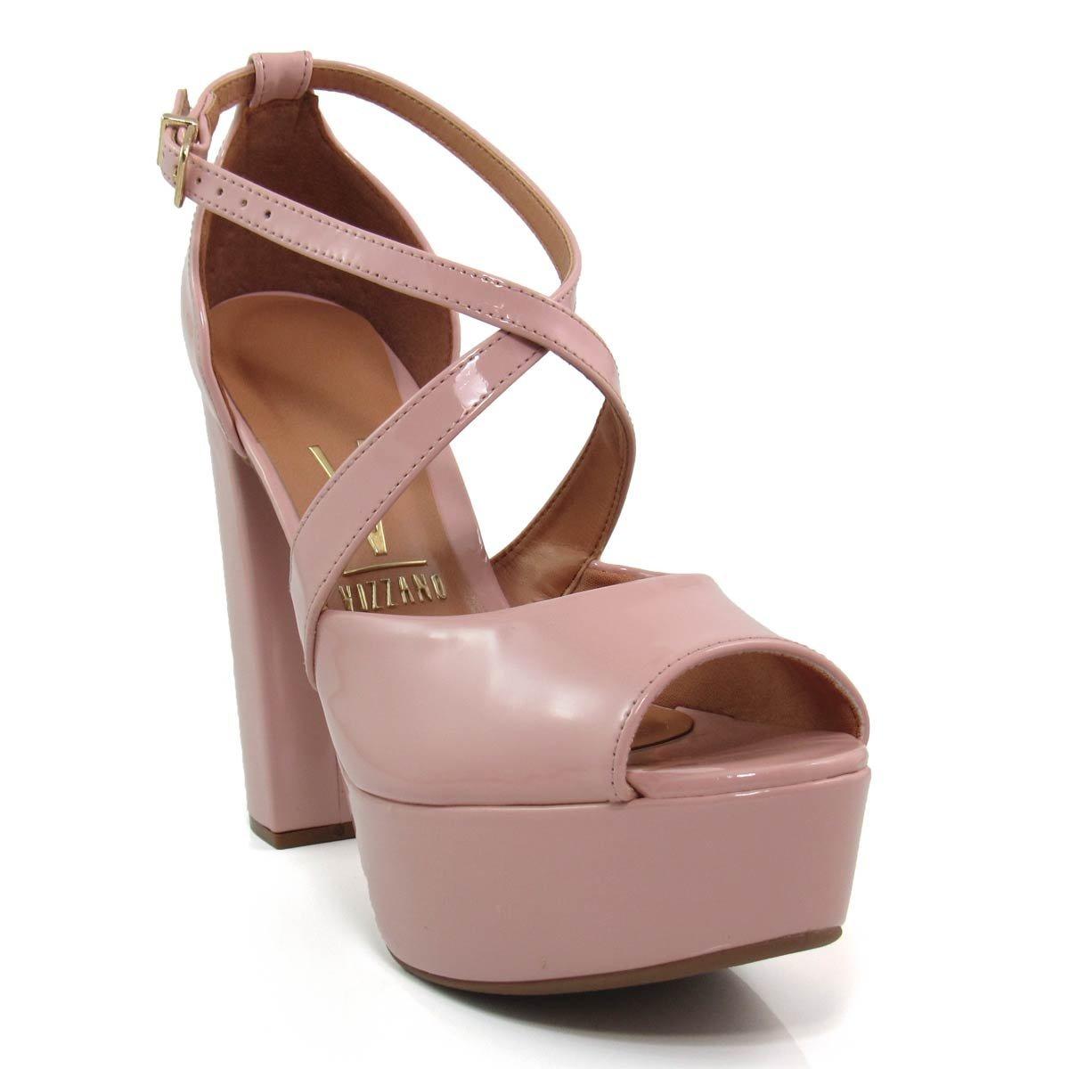 6392c6e33 sandália feminina meia pata salto grosso vizzano 6282136. Carregando zoom.