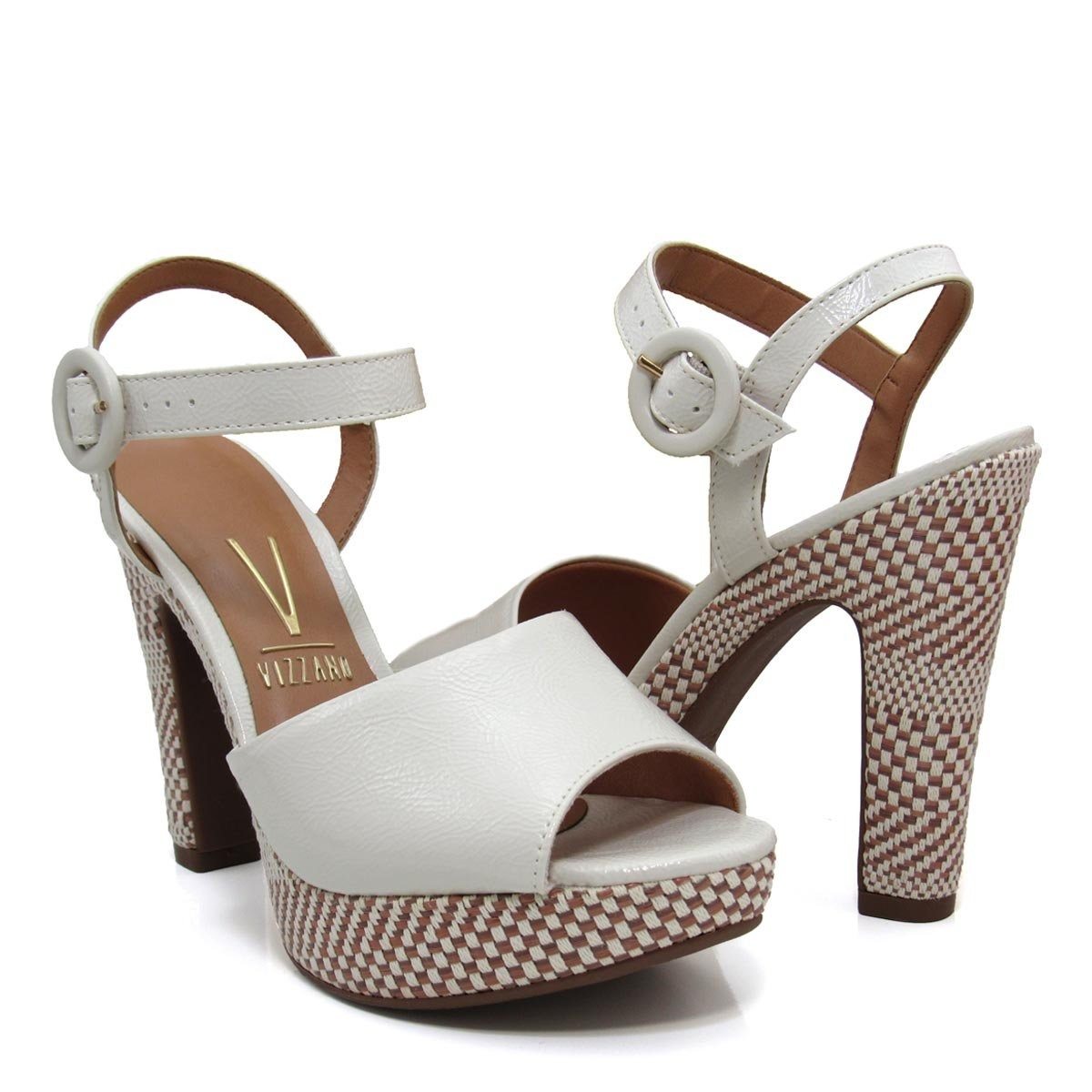 3b171c031 sandália feminina meia pata salto grosso vizzano 6292123. Carregando zoom.