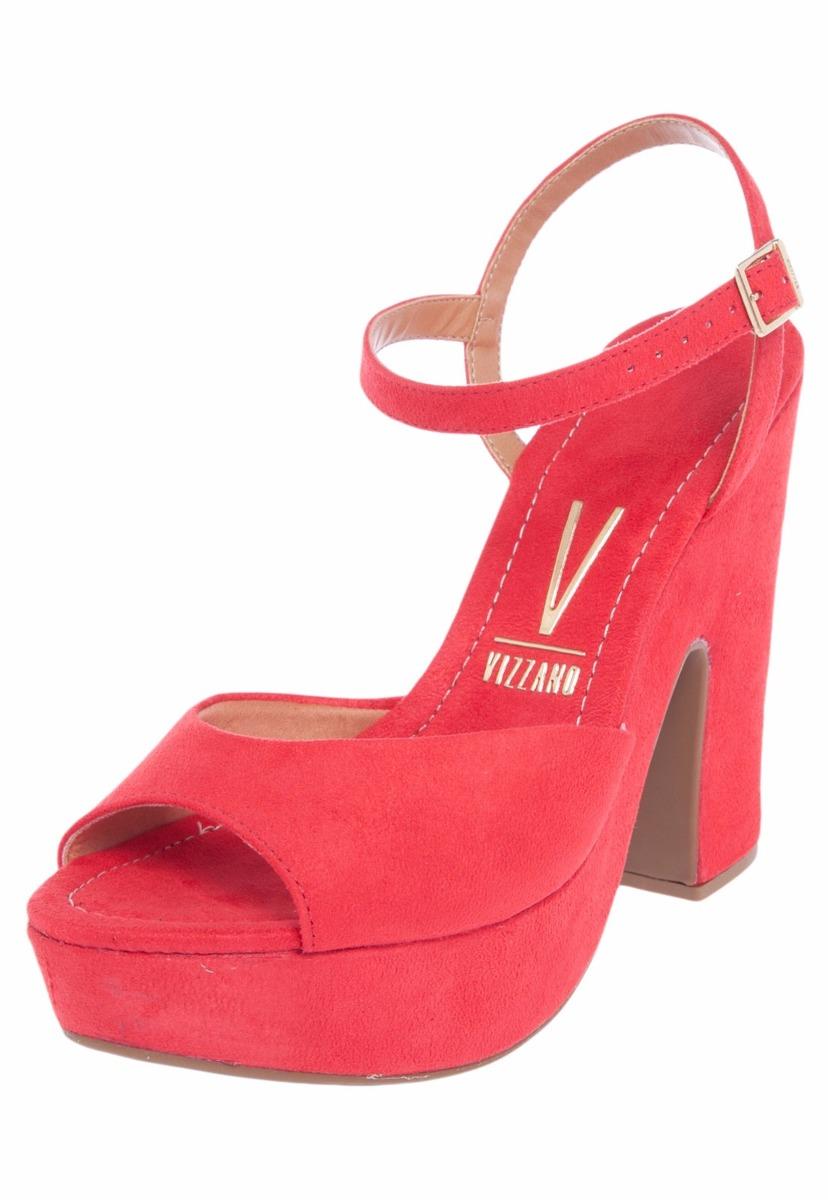 c7c4523af0 sandália feminina meia pata vizzano vermelha camurça. Carregando zoom.