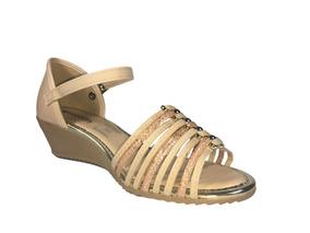 cd95ce686 Sandalia Anabela Nude Em Couro Dakota - Sapatos com o Melhores ...