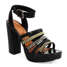 d95e5053e Sandalia Tanara Preta - Sapatos no Mercado Livre Brasil