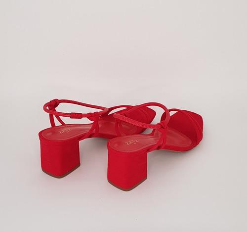 sandália feminina nobuk salto bloco marca zatz