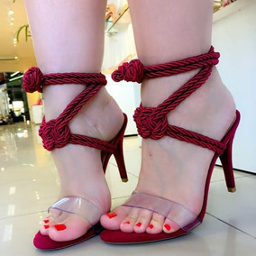 45b382775 Kit 6 Sandalias - Sapatos Bordô no Mercado Livre Brasil