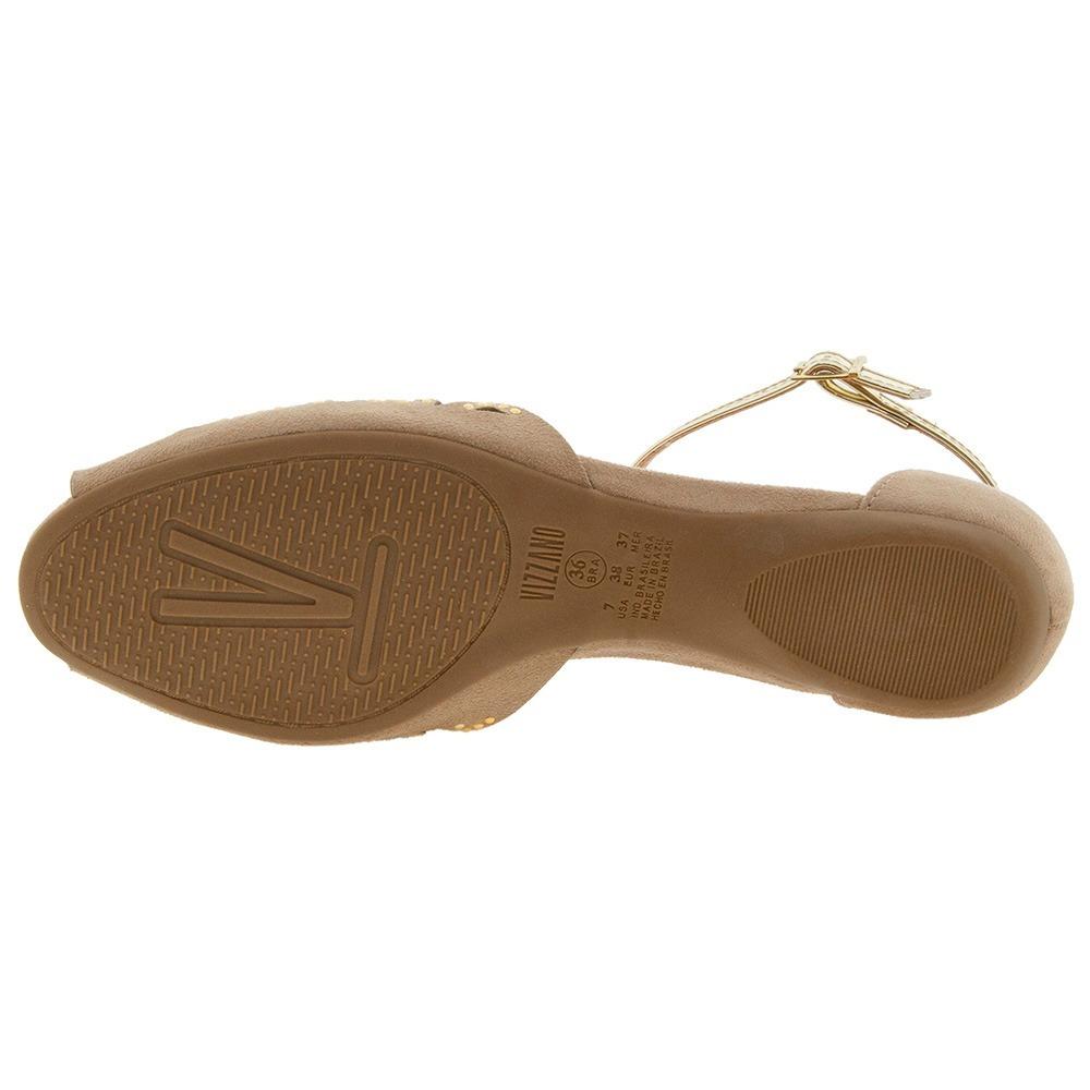 8fd17e25a sandalia feminina nude rasteirinha lançamento verão vizzano. Carregando zoom .