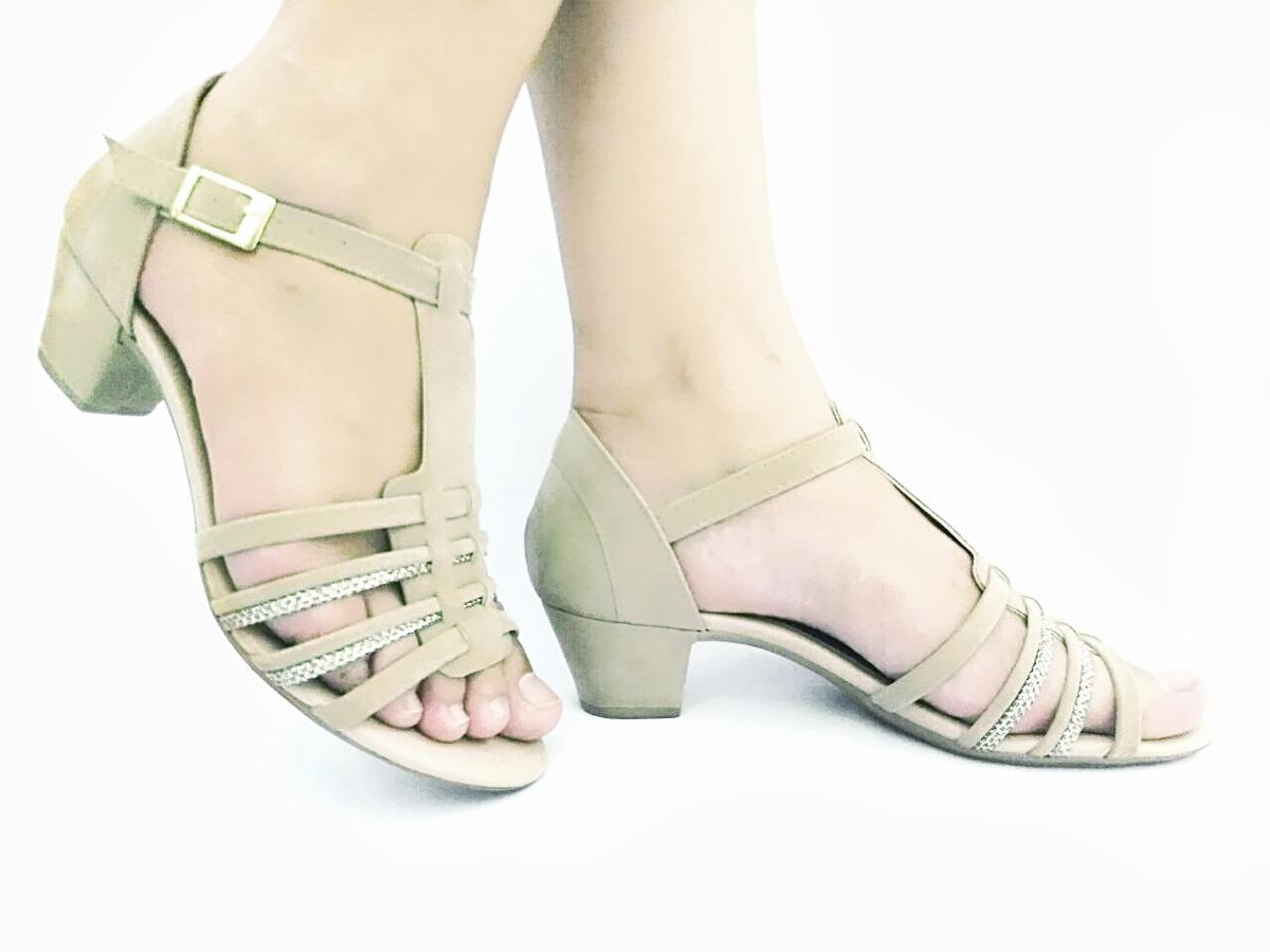 ab1ced4afd sandalia feminina nude salto super confortavel. Carregando zoom.
