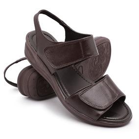 06f7ea00dc Sandalia Ortopedica De Couro Feminino Scarpins - Sapatos no Mercado ...