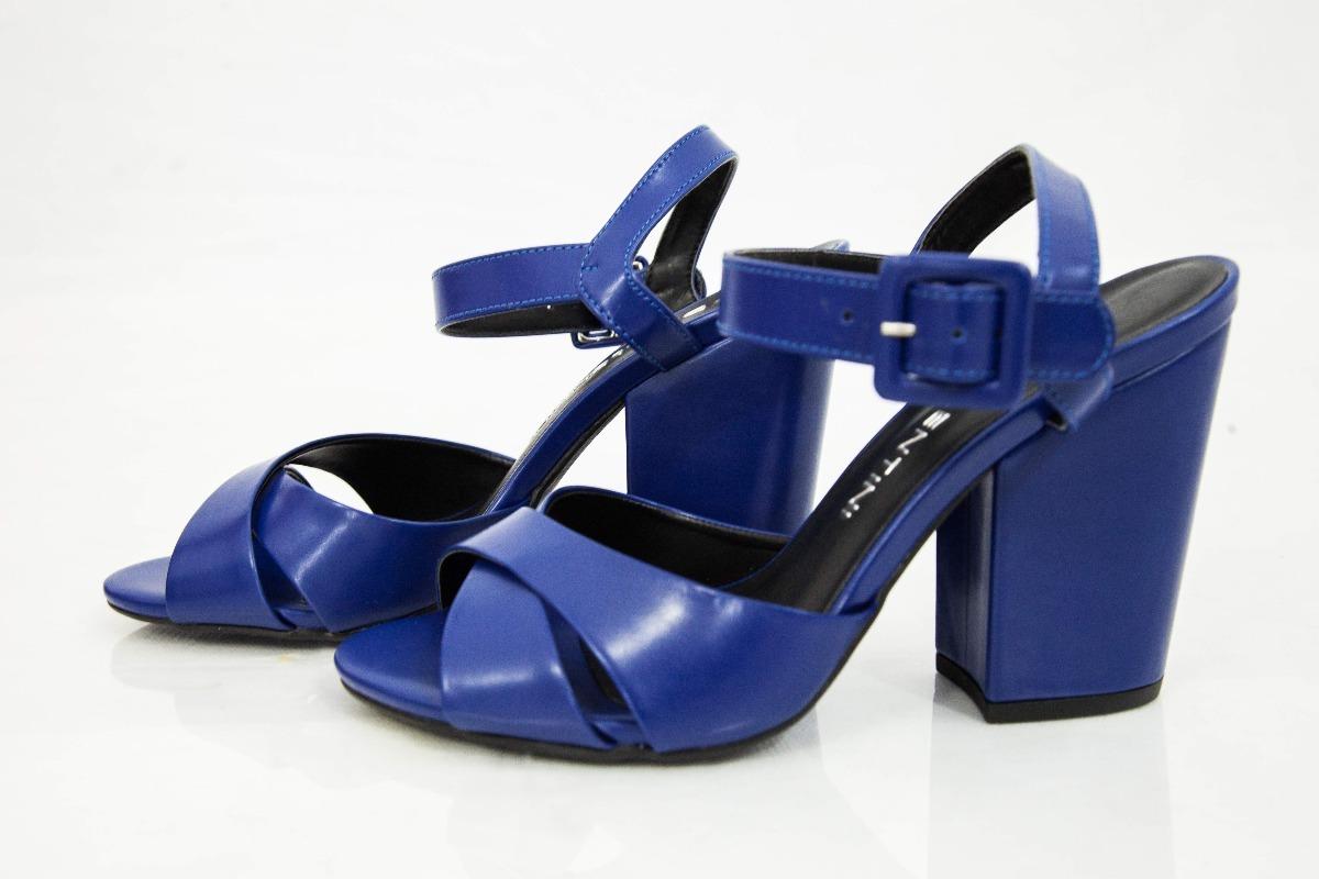 8ec561d22 sandália feminina, peep toe, azul, salto grosso - divalentin. Carregando  zoom.