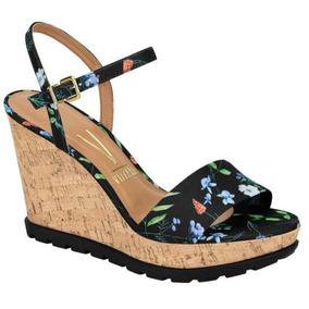 1dbbe114cd Sandalia Anabela Florida Vermelha Vizzano - Sapatos no Mercado Livre Brasil