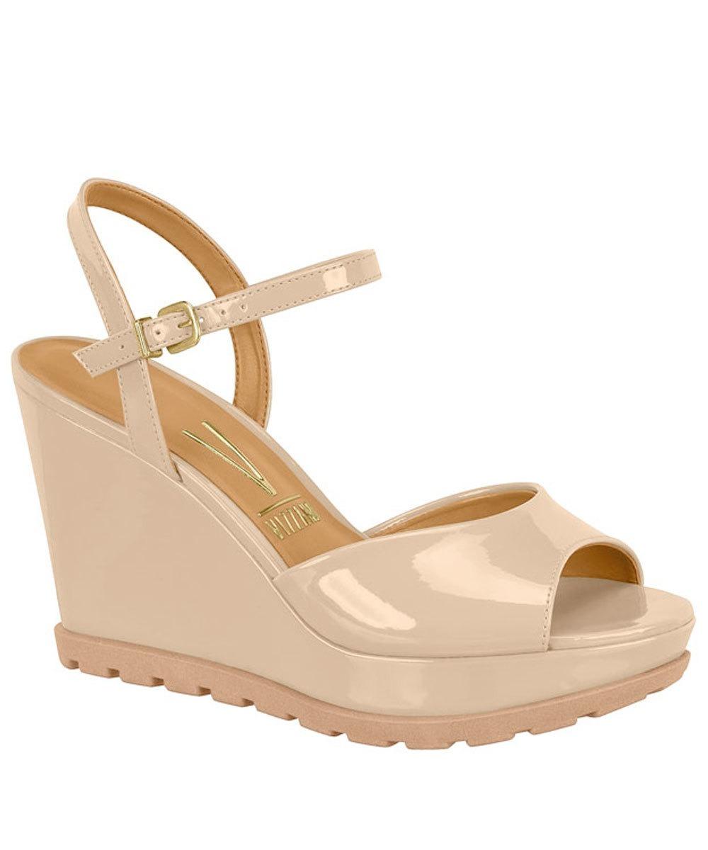 2dd66a39b sandália feminina plataforma anabela vizzano 6353106 nude. Carregando zoom.