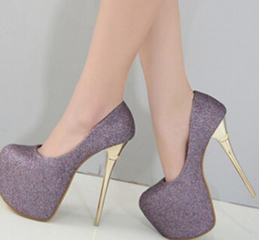 862677b8e Sapato Salto Alto Lilas - Sapatos no Mercado Livre Brasil