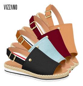 b14b7c8f0 Sandalia Da Vizzano Azul De Laço Plataforma - Sapatos com o Melhores ...
