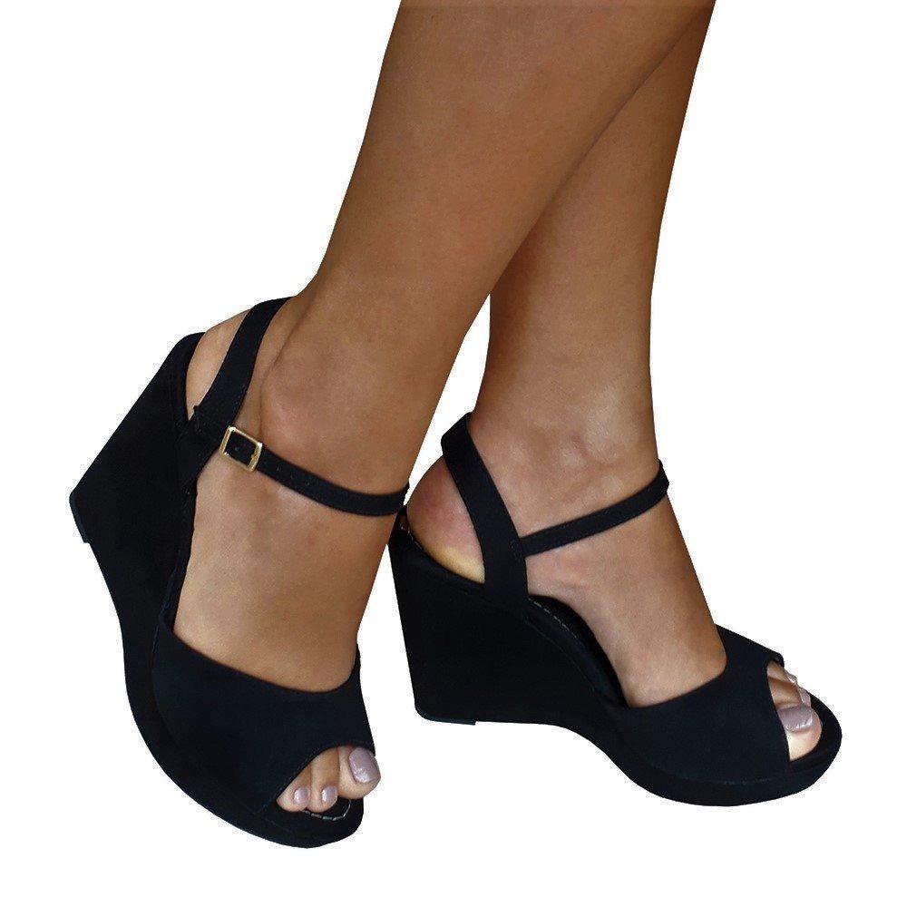 a782ccd11 sandalia feminina preta salto alto meia pata anabela moleca. Carregando  zoom.