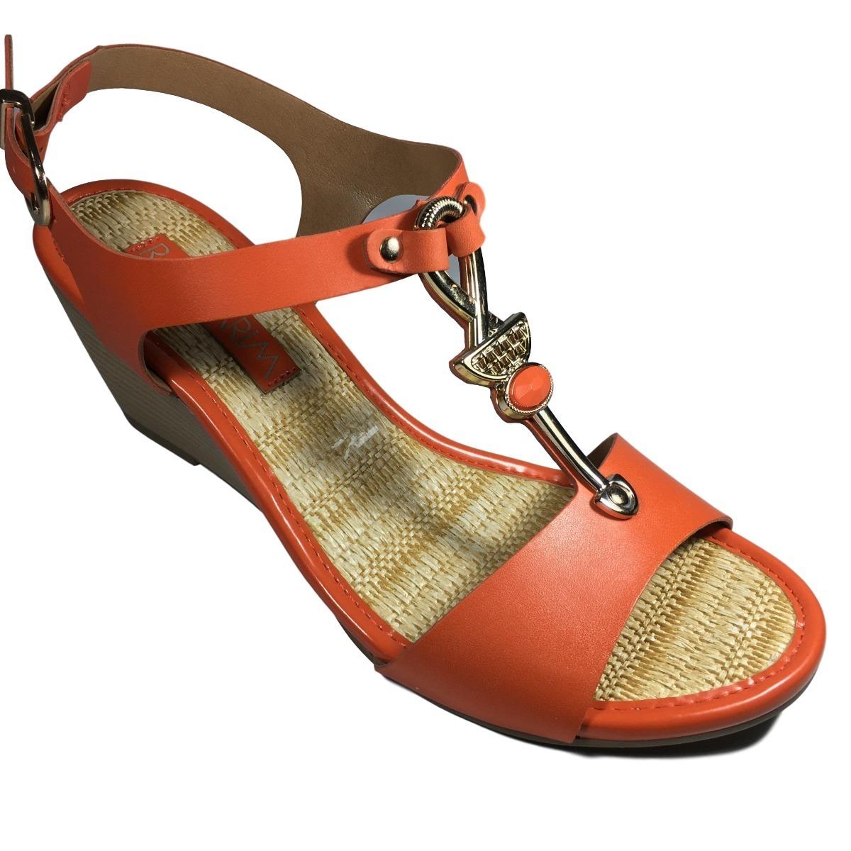8acb7ef5e1 sandália feminina ramarim laranja anabela salto baixo. Carregando zoom.