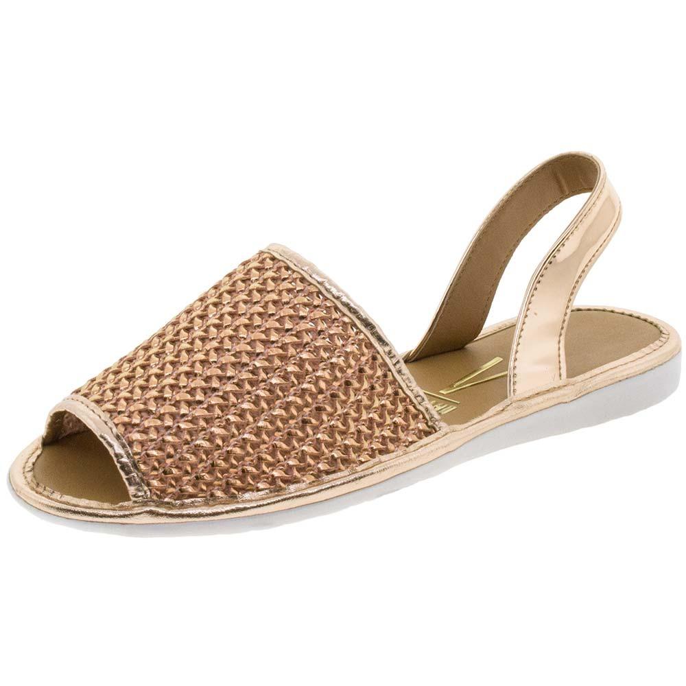 e8dd7d515f sandália feminina rasteira avarca bronze vizzano - 6280130. Carregando zoom.