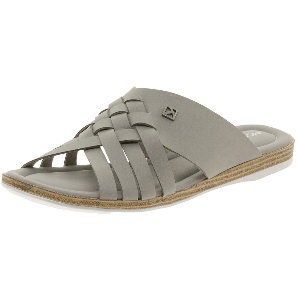 0b6b38680f sandália feminina rasteira cinza piccadilly - 504050. Carregando zoom.