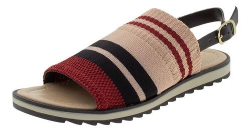 sandália feminina rasteira dakota - z3811 preto/vermelho