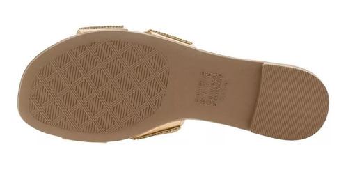 sandália feminina rasteira dakota z5241 bronze original