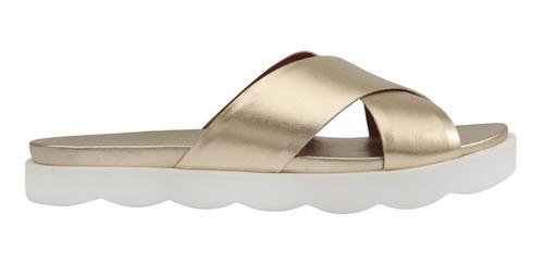 sandália feminina rasteira flat slide couro carrano 140401