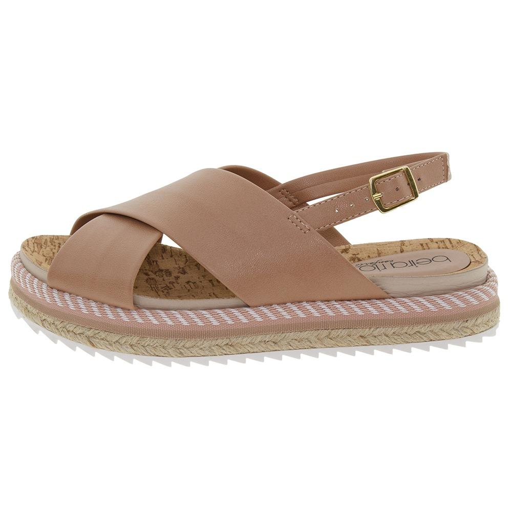 1d900127a sandália feminina rasteira nude beira rio - 8354102. Carregando zoom.