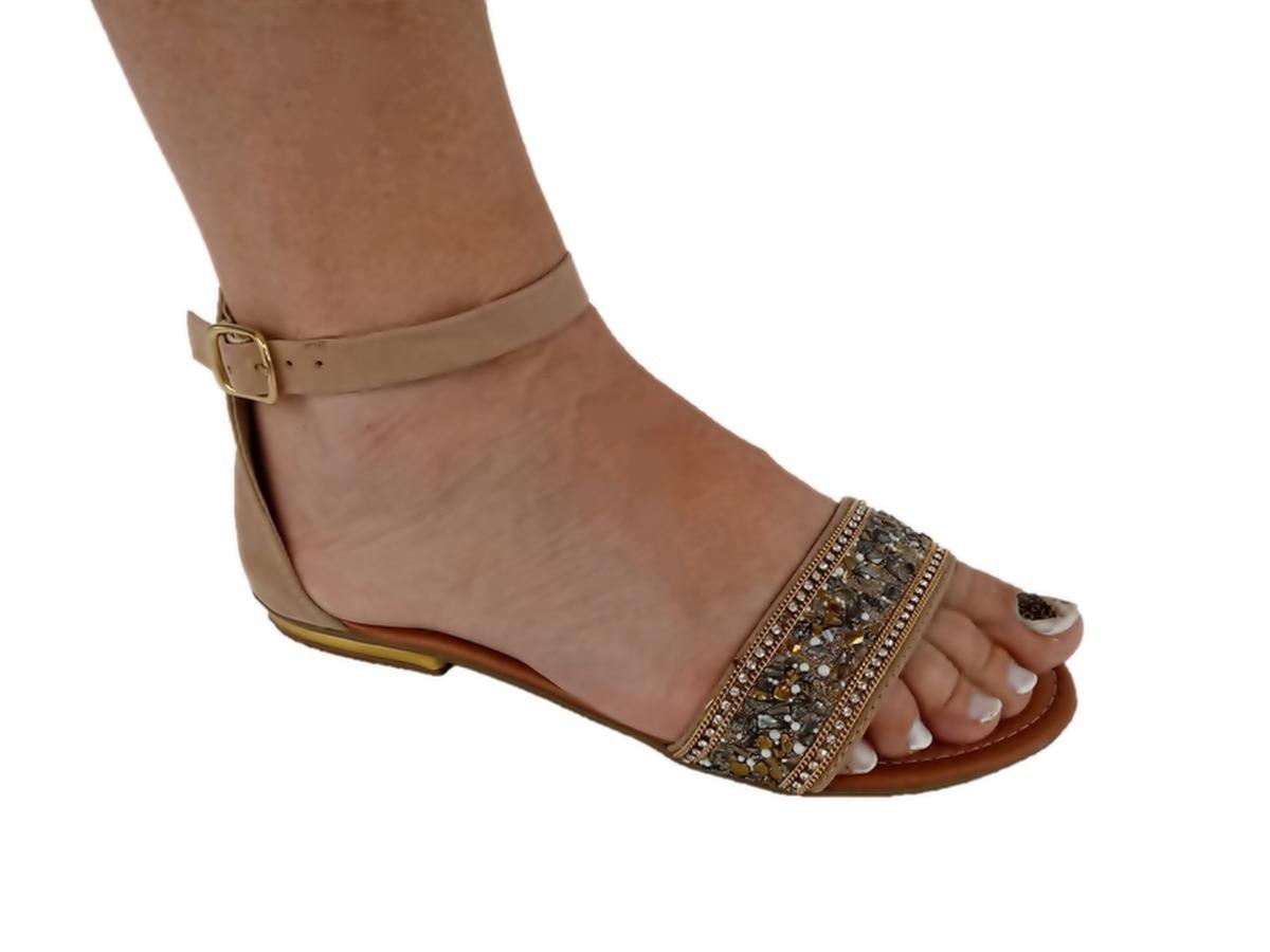 5e2726a2f sandália feminina rasteira pedras tamanho/numero 40. Carregando zoom.